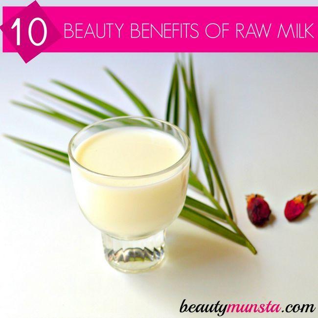 Fotografía - 10 avantages étonnants de beauté de lait cru