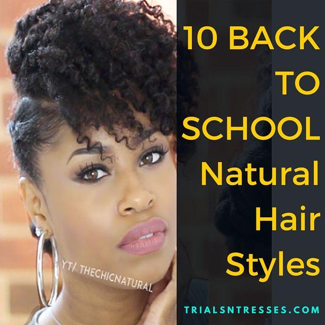 Fotografía - 10 Retour Pour Styles école cheveux naturels