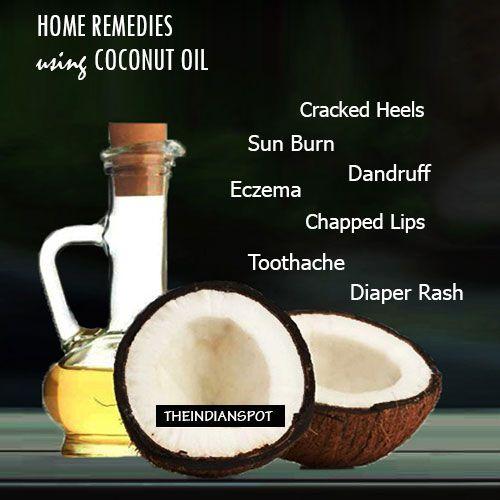 10 Top remèdes maison en utilisant l'huile de noix de coco