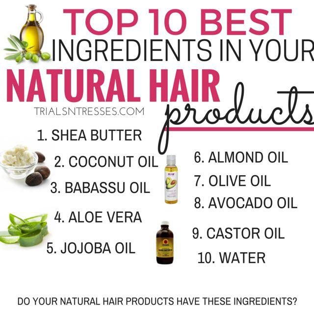 Fotografía - 10 meilleurs ingrédients dans vos produits de cheveux naturels