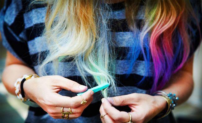 Fotografía - 15 façons temporaires de colorer vos cheveux