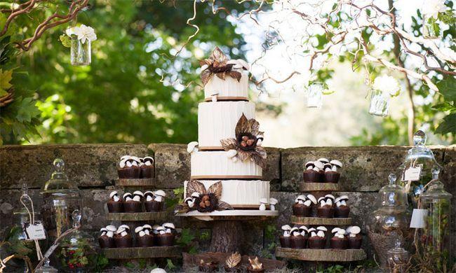 Fotografía - 19 meilleurs et uniques idées pour les gâteaux de mariage rustique