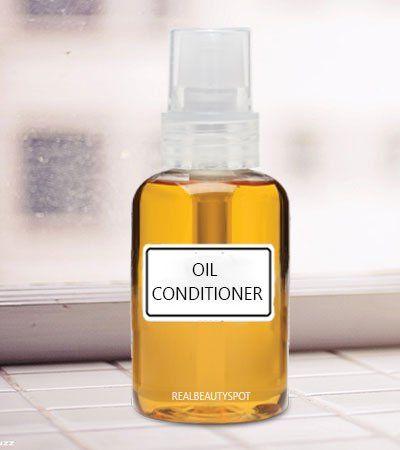 Congé de l'huile de bricolage en spray conditionneur - cheveux abîmés à sec