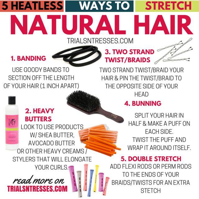 Fotografía - 5 Heatless façons d'étirer Natural Hair