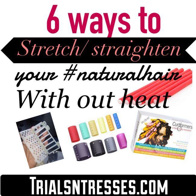 Fotografía - 6 façons d'étirer / Redressez votre #NaturalHair Avec de la chaleur