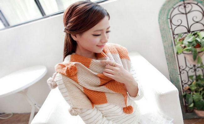 Fotografía - Voie 7 plupart Genius Pour tricoter une écharpe pour moins de 30 minutes, avec seulement les armes!