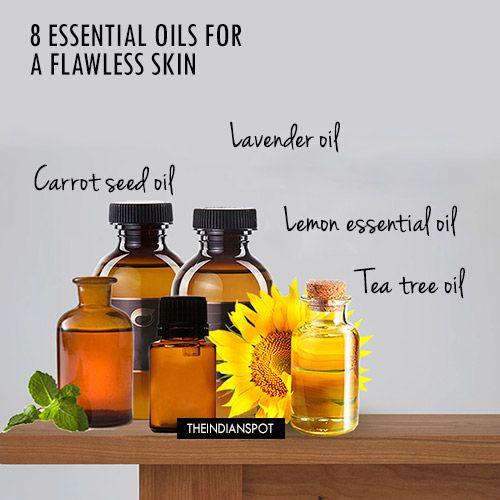 Huiles essentielles pour une peau impeccable