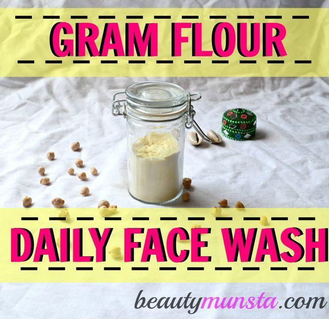 Utilisation de la farine gramme de lavage quotidien du visage a toujours été un secret de beauté indienne. Or, il's your turn to use this effective cleanser for beautiful skin!