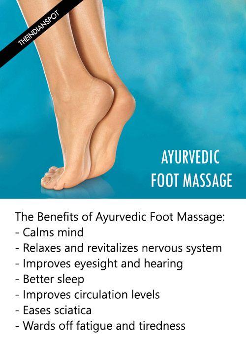 Fotografía - Ayurvédique massage des pieds - avantages et comment