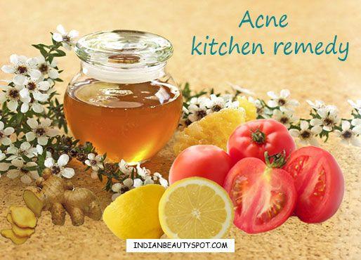 ingrédients de cuisine pour traiter l'acné
