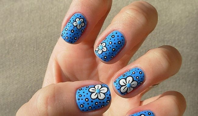 Fotografía - Ongles bleus Designs: 20 créations pour les femmes élégantes Fantabulous