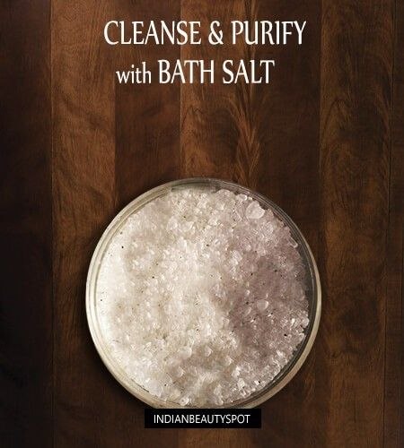 Nettoyer et purifier votre peau avec du sel de bain