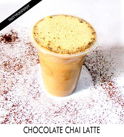 Fotografía - Délicieux maison chai latte au chocolat