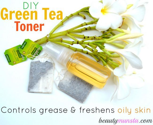 Fotografía - Vert toner de thé de bricolage pour la peau grasse