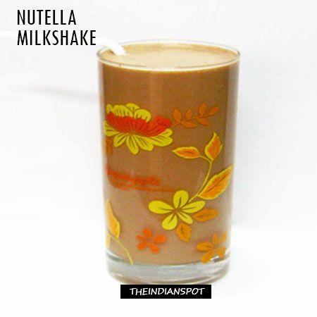 Fotografía - Nutella milk-shake recette facile et savoureuse
