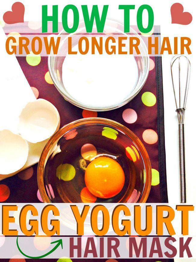 Fotografía - Egg et le masque yogourt cheveux Recette pour une croissance forte, Cheveux longs