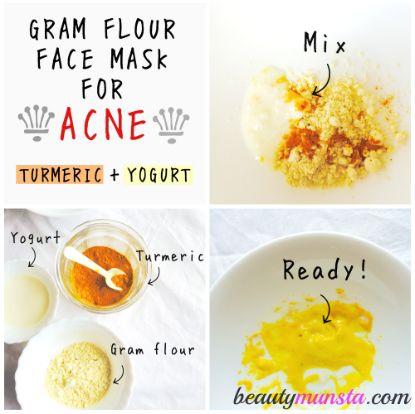 Fotografía - Gram Flour Masque pour l'acné