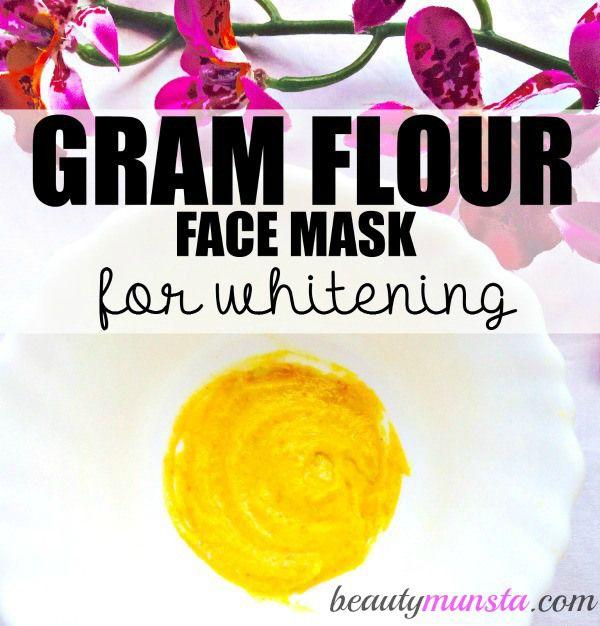 Fotografía - Gram Flour Masque pour le blanchiment de la peau