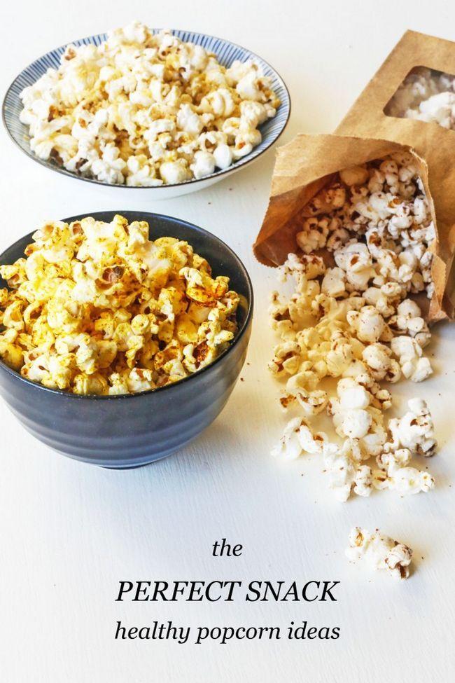 Fotografía - Idées de collations saines: 3 aromatisés Popcorn Recettes
