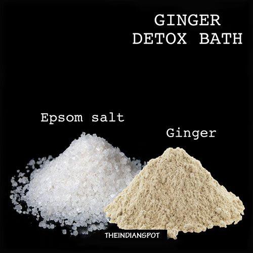 Remède à la maison gingembre naturel recettes de bain de Detox