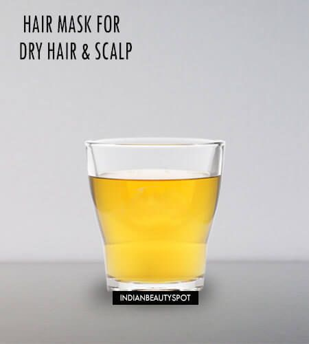 Masque capillaire maison et de broussailles pour les cheveux et le cuir chevelu sec