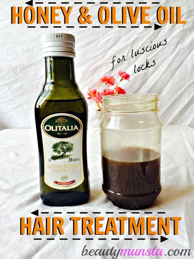 Fotografía - Le miel et l'huile d'olive pour le traitement de cheveux Serrures Luscious