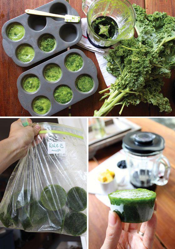 Fotografía - Comment congeler les légumes-feuilles et vert Smoothie Recette