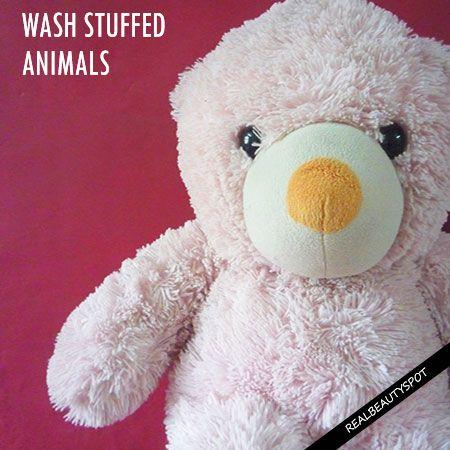 Comment se laver les animaux en peluche