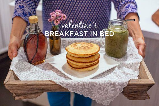 Fotografía - Imprégné de sirop d'érable et petit déjeuner au lit