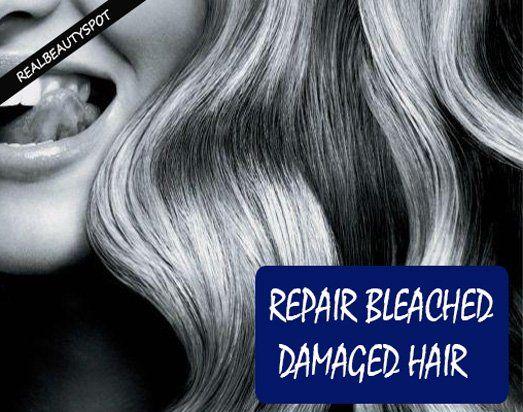 Fotografía - Traitements naturels pour réparer les cheveux abîmés blanchie