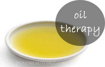 Thérapie de l'huile pour traiter la peau et des cheveux à sec