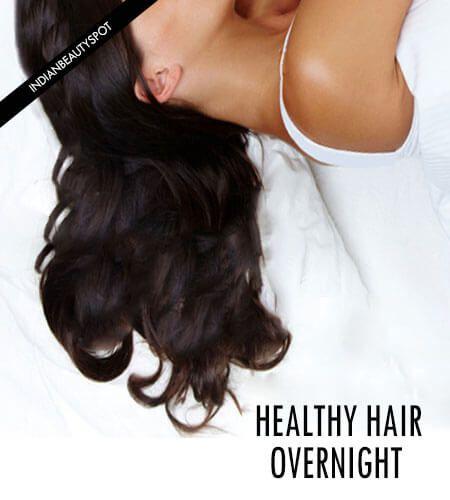 Fotografía - Nuit soin des cheveux - se réveiller avec des cheveux en bonne santé parfaite