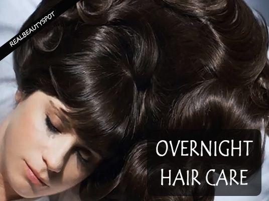 Fotografía - Traitements de cheveux pendant la nuit pour de beaux cheveux