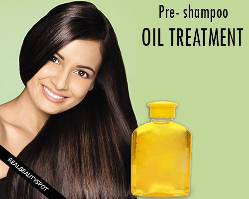Fotografía - Shampoing cheveux pré-traitement de l'huile pour des cheveux sains