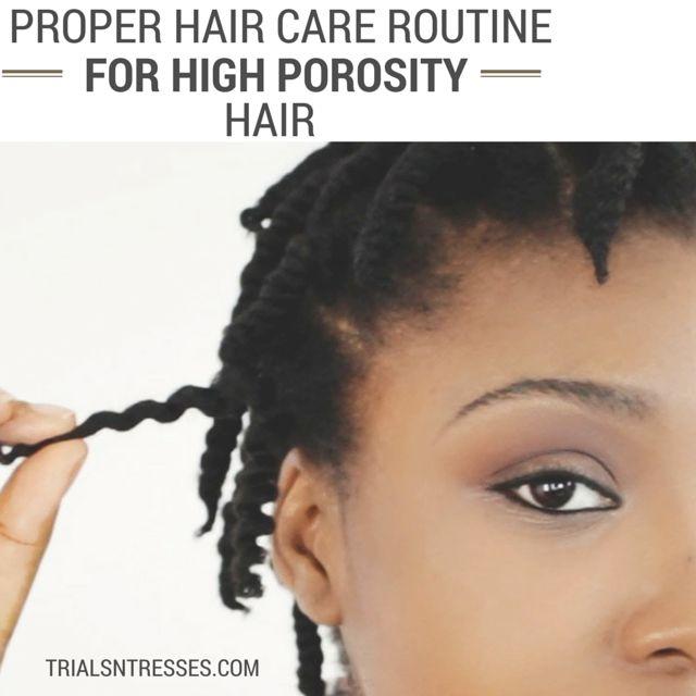 Fotografía - Une bonne routine de soins capillaires Pour porosité élevée cheveux