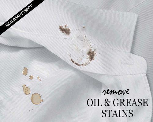 Fotografía - Enlever les taches d'huile ou de graisse et les taches de nourriture de vêtements
