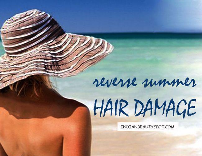 Fotografía - Dommages de cheveux inverse d'été