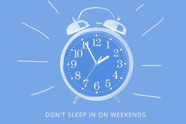 Ne pas dormir dans le week-end