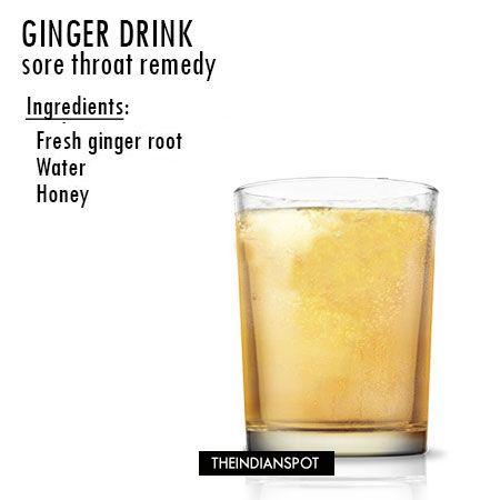 Fotografía - Sore remède de la gorge avec une boisson au gingembre recette