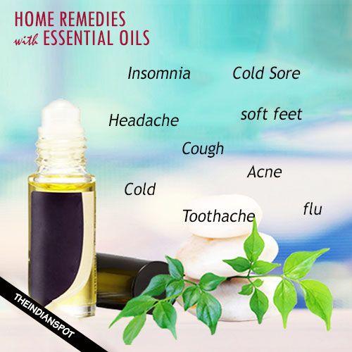 Fotografía - Top des remèdes maison en utilisant des huiles essentielles