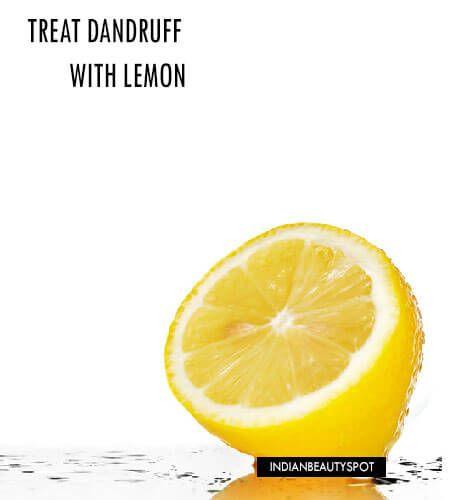 Traiter les pellicules / démangeaisons du cuir chevelu naturellement au citron