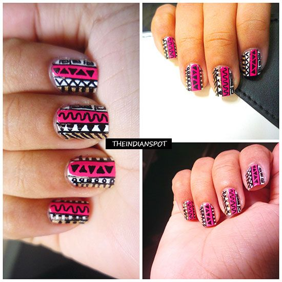 Fotografía - Tribal tutoriel nail art avec marqueur Sharpie
