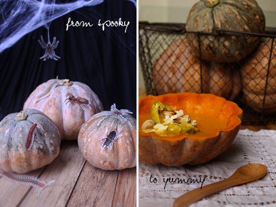 Fotografía - Transformez votre citrouille d'Halloween dans la soupe