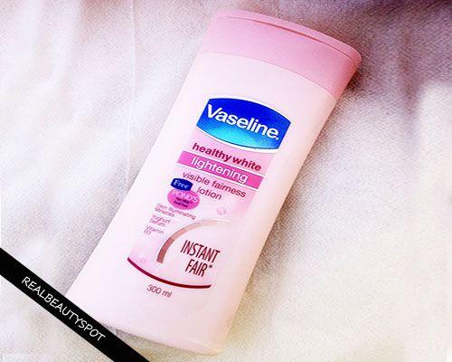 Fotografía - Vaseline saine foudre blanche lotion pour le corps