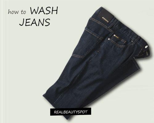Fotografía - Se laver les jeans - la machine et lavage à la main