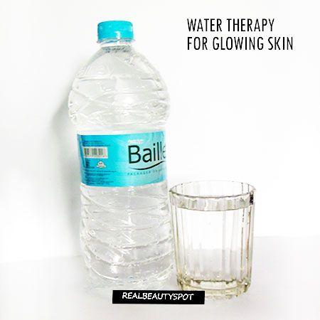 Fotografía - Traitement de l'eau pour une peau éclatante