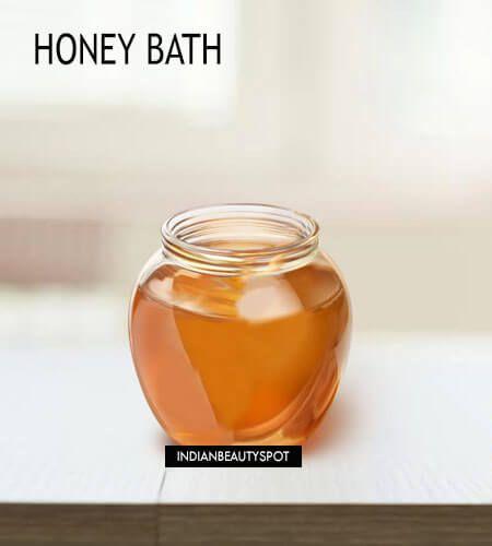 Fotografía - Façons d'utiliser le miel dans le bain